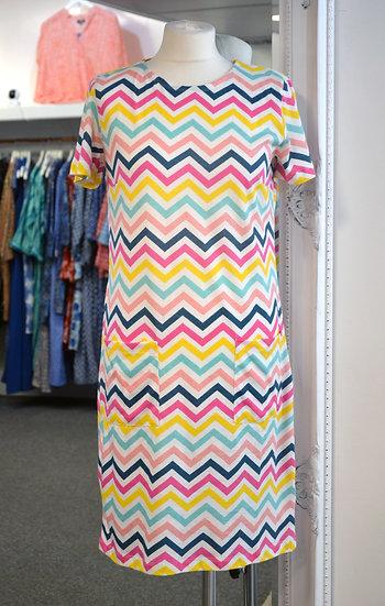 Sugarhill Brighton Zig Zag Colourful T-Shirt Dress