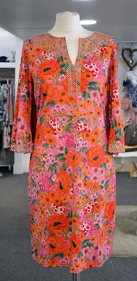K-Design Pink & Orange Floral dress