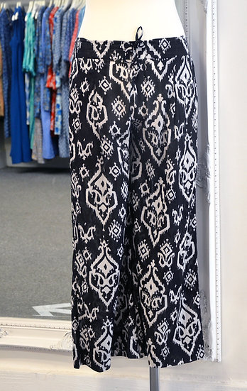 Dream Black & White Patterned Cotton Trousers