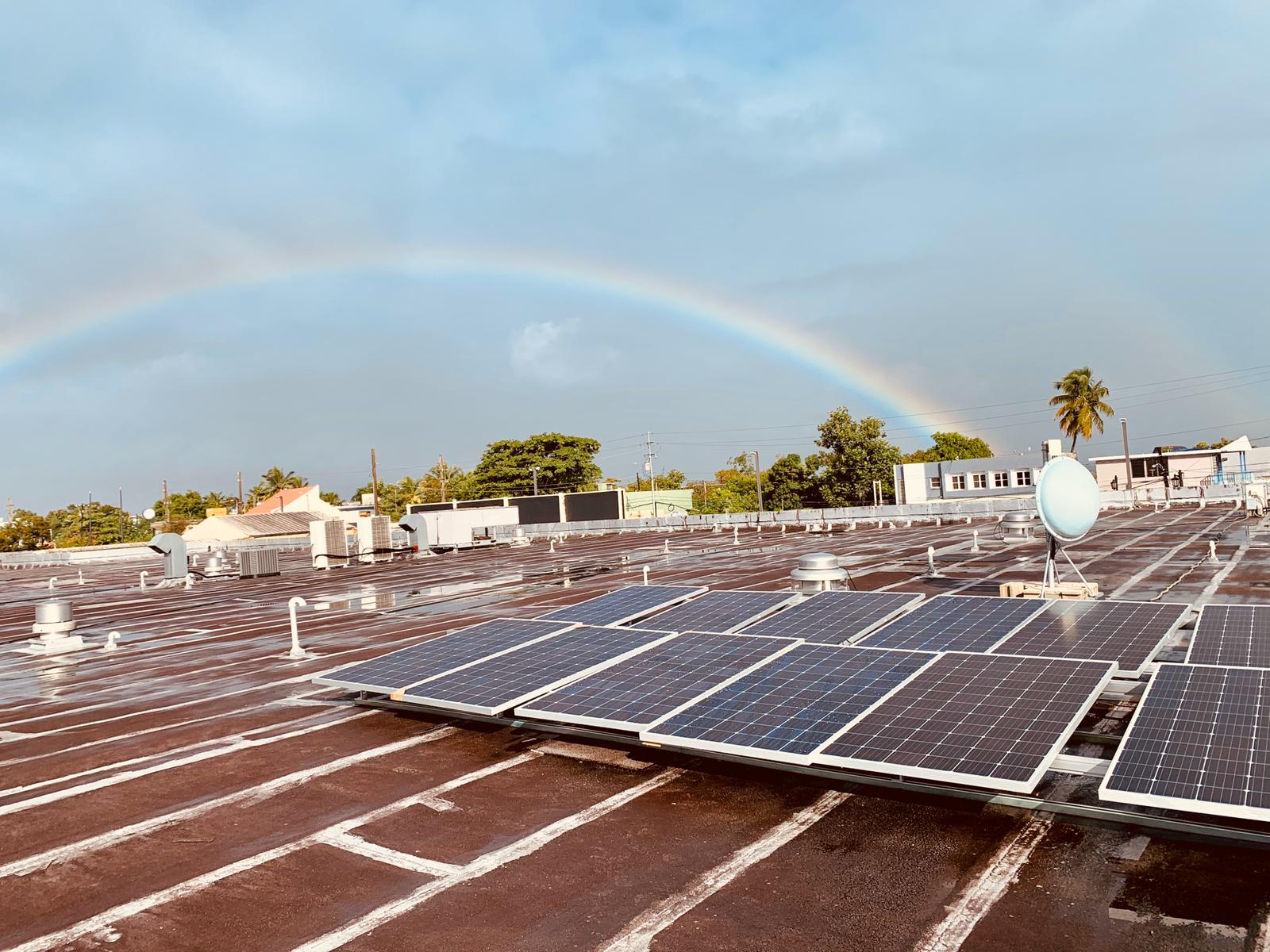 Rainbow Over Solar Panels