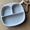 Thumbnail:  Силиконовая тарелка на присоске с тремя секциями