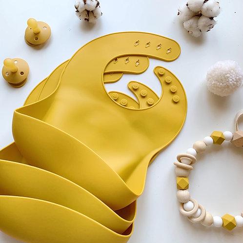 Силиконовый нагрудник Mustard