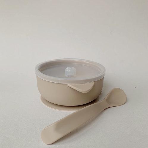 Силиконовая миска на присоске для супчиков и каш Baked Milk