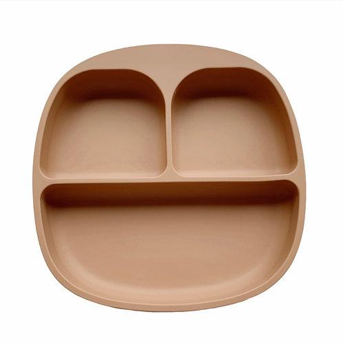 Силиконовая тарелка на присоске с тремя секциями Camel