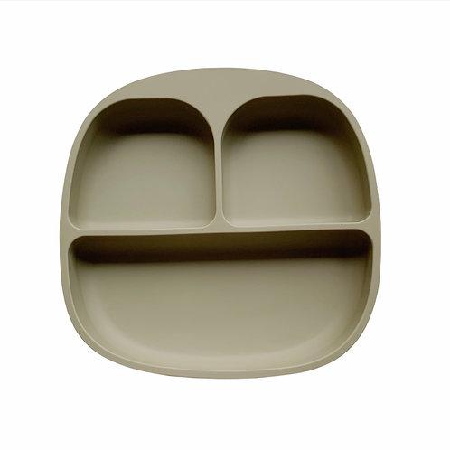 Силиконовая тарелка на присоске с тремя секциями Sage