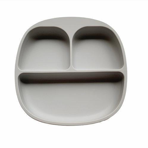 Силиконовая тарелка на присоске с тремя секциями Fog