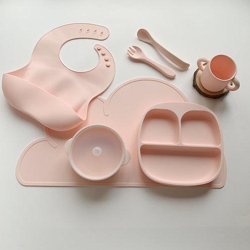 Набор силиконовой посуды Soft Pink