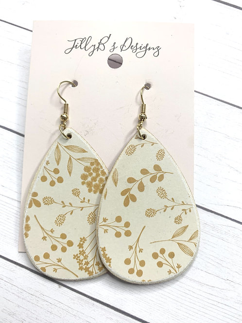 Yellow Floral Teardrops
