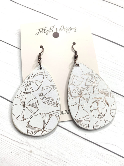 Metallic Floral Teardrops