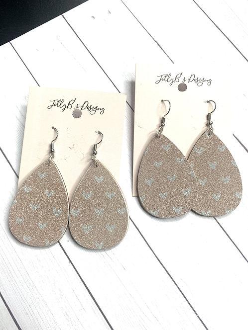 Shimmering heart earrings