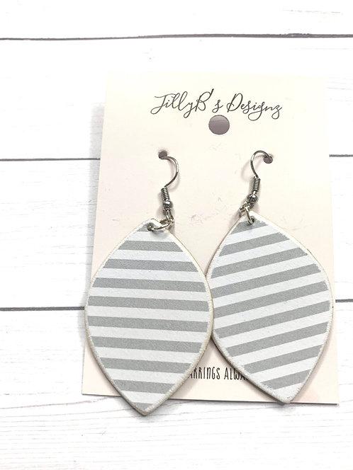 Gray White Stripes