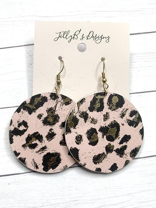 wood / print earrings