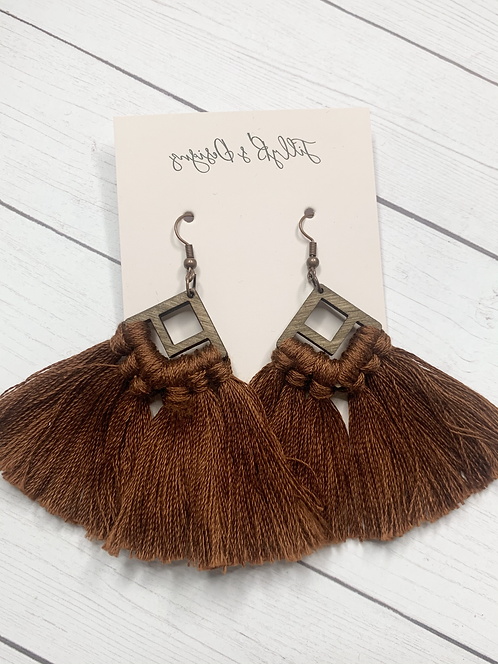 Boho Fringe - Chocolate