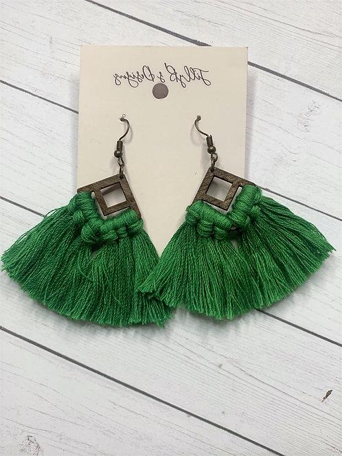 Boho Fringe - Green