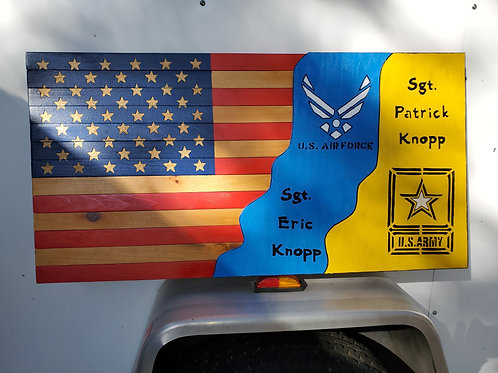 military flag with double logos