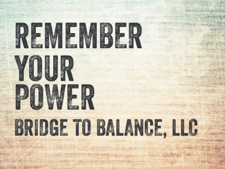 Day 19 of 20 - Autumnal Equinox Series: REMEMBER YOUR POWER