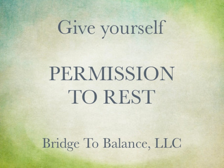 Day 17 of 20 - Autumnal Equinox Series: PERMISSION TO REST