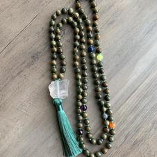 Green Sandalwood Chakra Mala (Turquoise)