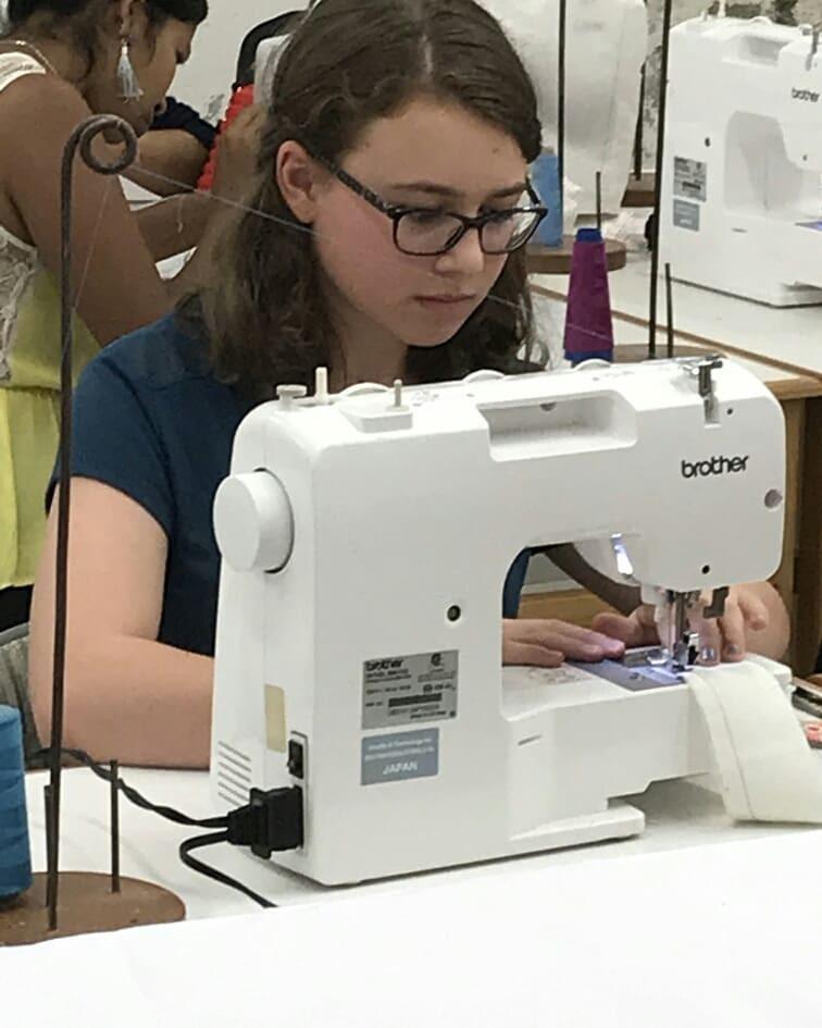Ella at Volcanes Sewing School