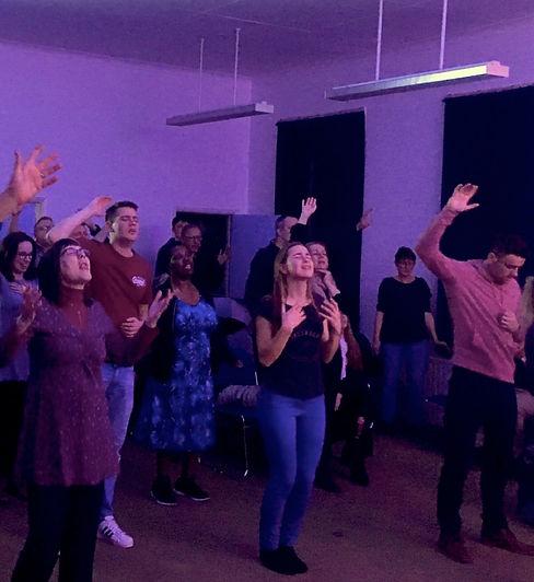 Church worshipping