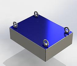 placa magnética suspensa