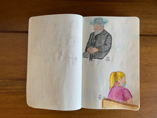 Pencil and color pencil Aug 15, 2020 People in NYC