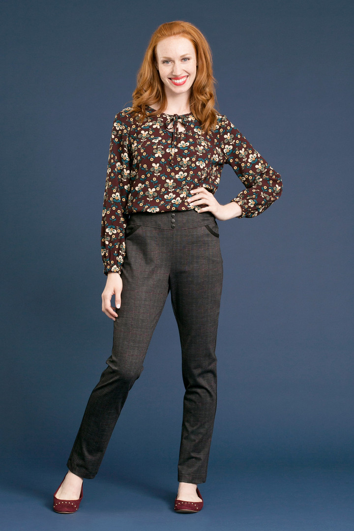 FLORETTE Cut-Out Blouse - $128 DANE Print Pant - $138