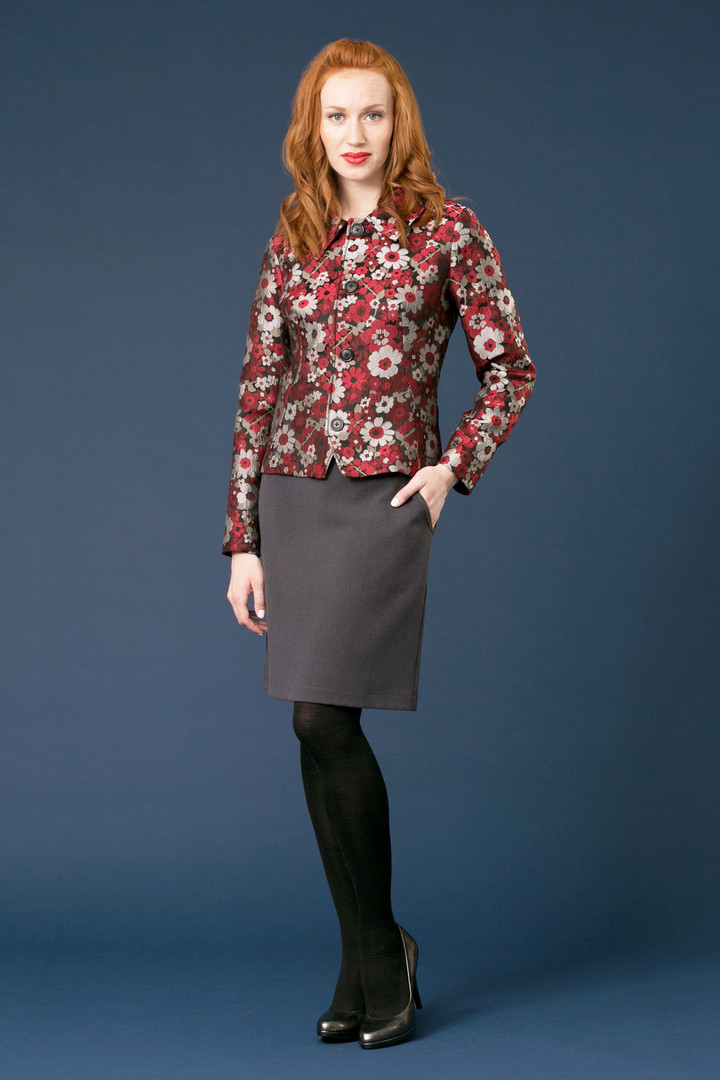 ALDA Jacquard Blazer - $158 ICON Classic Skirt - $98