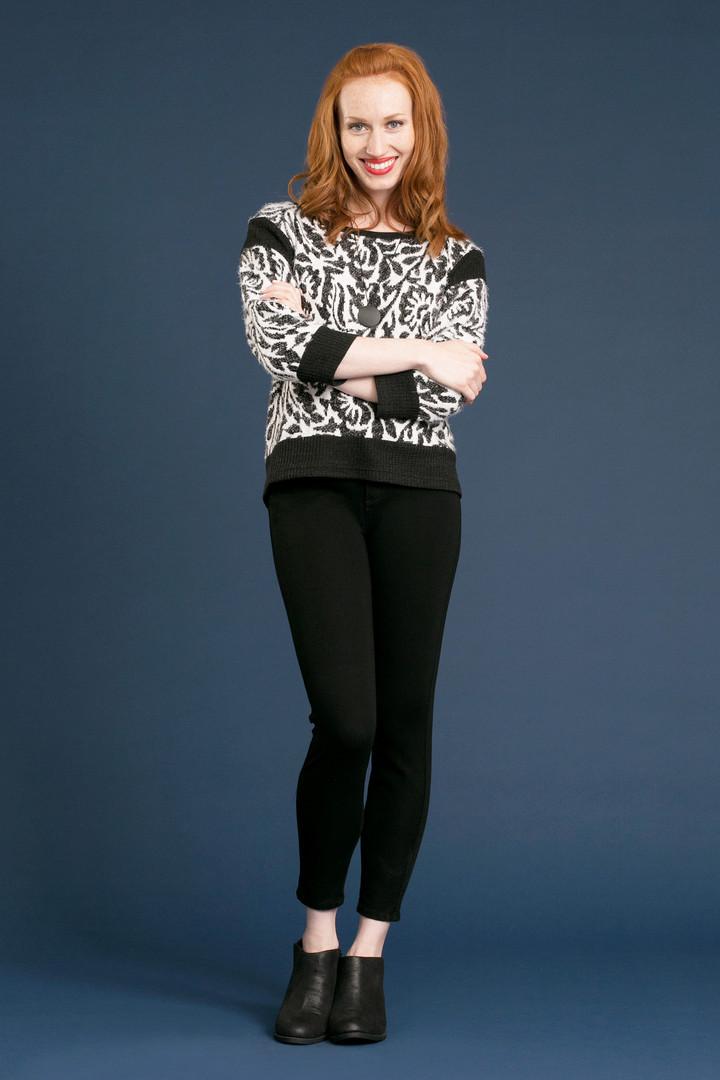 CORINNE Fuzzy Sweater - $128 SILHOUETTE Legging - $68