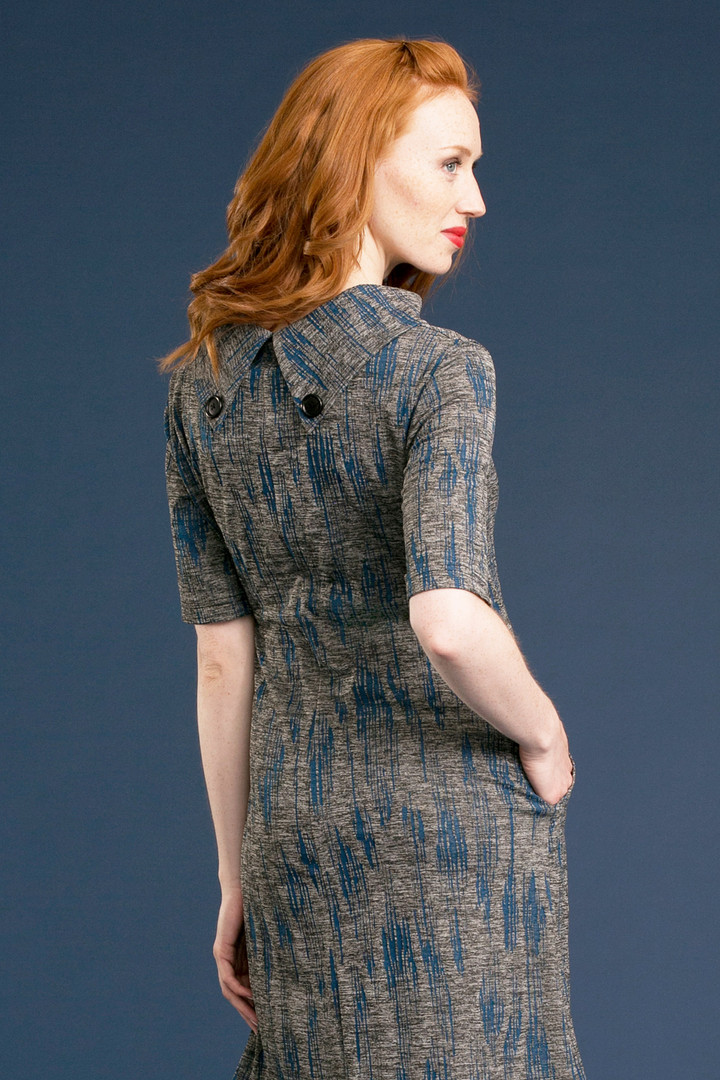 FAYE Collar Dress (back) - $158