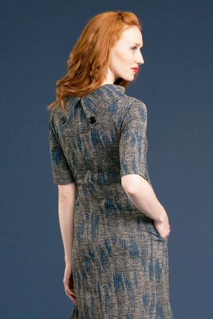 FAYE Collar Dress (back) - $158