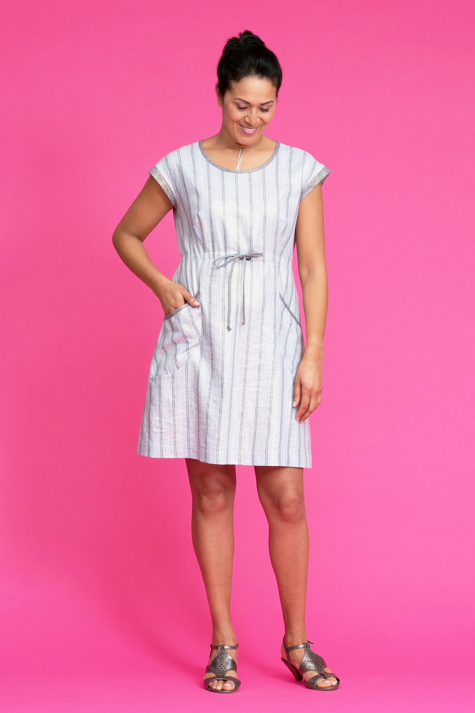 DELTA Metallic Linen Dress