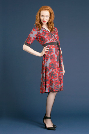 WARIS Faux Wrap Dress - $168