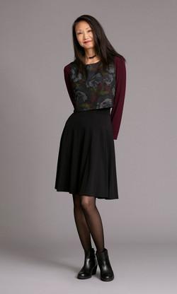 SILHOUETTE Skirt / MOSS Top