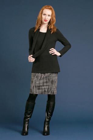 CLARA Cowl Sweater - $118 NASH Penicl Skirt - $88