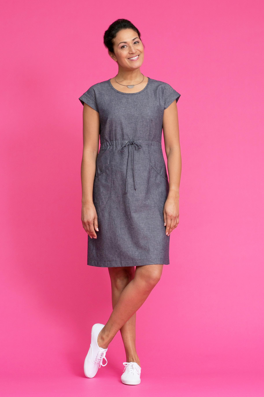 DOVER Linen-Denim Dress