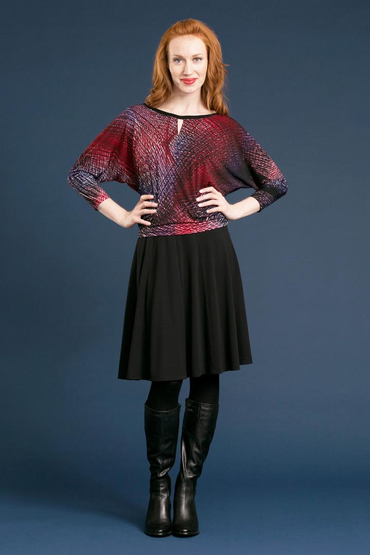 JENNA Slouch Tee (reversible) - $88 SILHOUETTE Flip Skirt - $78
