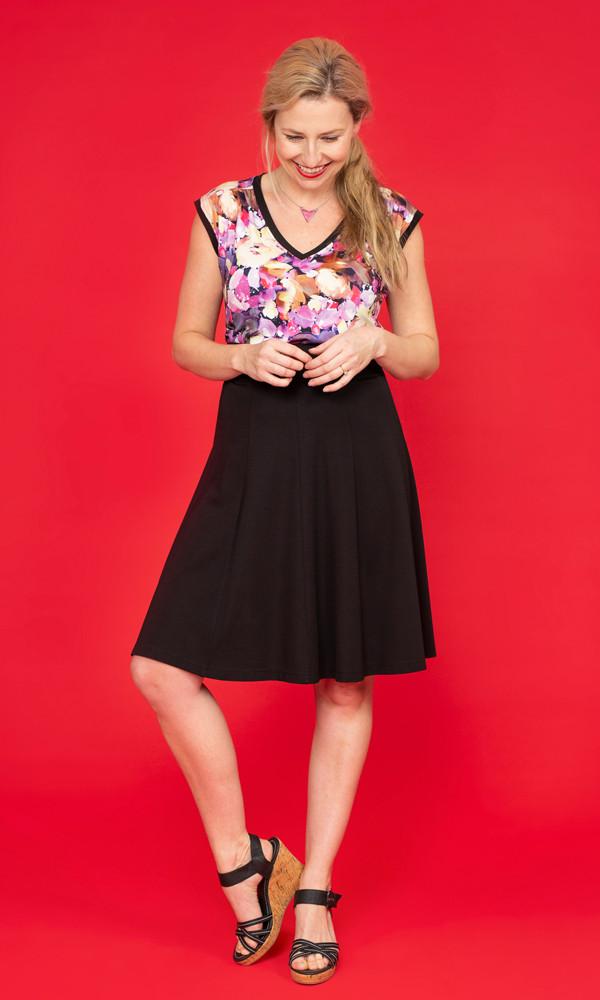FRANNIE Print Gathered Shoulder Tank / SILHOUETTE Flip Skirt