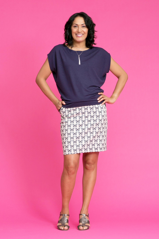 CHARLES Slouch Tee / MARIPOSA Skirt