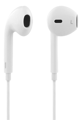 Semi-in-ear headset with media/answer button