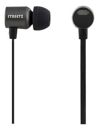 In-ear headset, mic and volume control, 16 Ω, 3,5mm, 1,2m