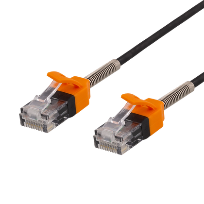 DELTACO GAMING Patch Cable 5m, Cat 6A U / UTP, 500MHz, metal spring strain relie
