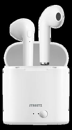 True Wireless semi-in-ear earbuds with charging case