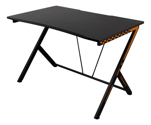 Gaming table with metal legs PVC treated surface, orange