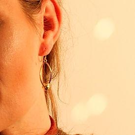 Forgyldte øreringe fra Creol