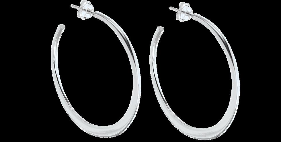 Store sølvcreoler - sølvhoops - sigøjnerøreringe - sølvøreringe
