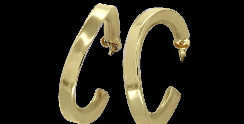 Forgyldte creoler øreringe - to størrelser