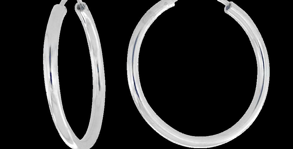 Klassiske sølvcreoler oversize - 65 mm