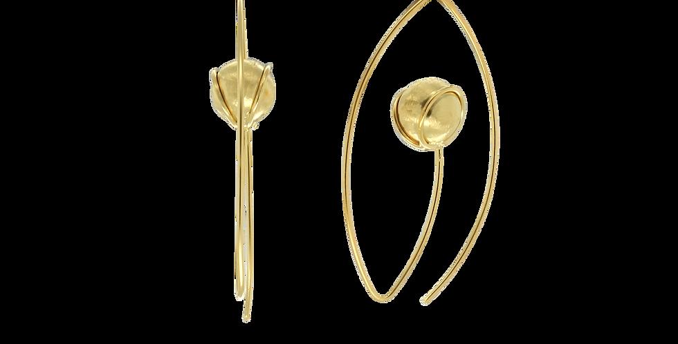 Øreringe med indviklet glitterkugle