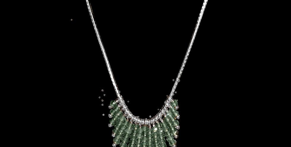 Sølvhalskæde med små peridoter - Elegance